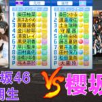 乃木坂46 4期生と櫻坂46が交流戦を行ったようです【パワプロ2021】