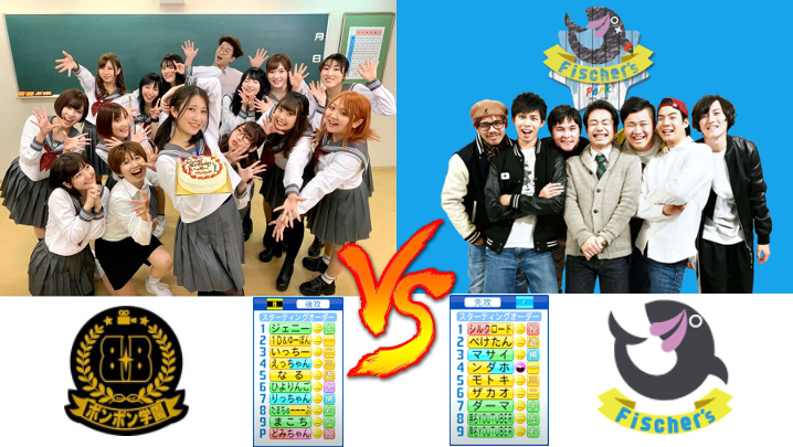 ボンボン学園女子メンバー(ボンボンTV)  vs フィッシャーズ【パワプロ2021】